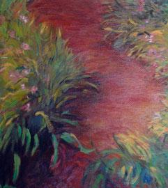 copie d'après Claude Monet - Le chemin des iris - 1917