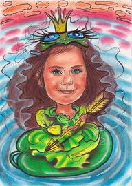 "детский шарж ""Принцесса лягушка"""