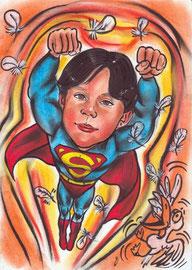 """детский шарж """"Супермен"""""""