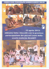 Leoni della scuola materna Airoldi, 15 aprile 2013