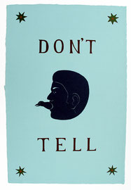 """Don't Tell 2006, 37 x 25"""""""