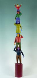 "Family Totem, 2003, 44 x 6 x 3"""