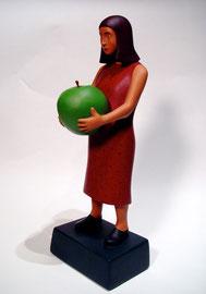 """Apple Girl, 2000, 19 x 7 x 7"""""""