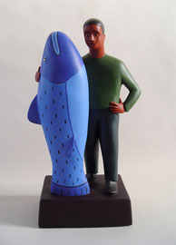 """Fish Man, 2000, 16 x 9 x 5"""""""