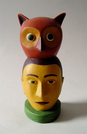 "Owl Man, 2000, 10 x 5 x 4"""