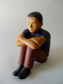 Young Man, 2000, 22 x 9 x 7""