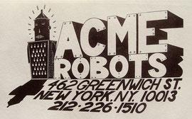 Acme Robots letterhead 1985