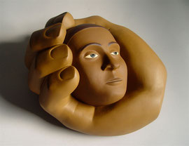 Head in Hand, 2006, 13 x 12 x 7""