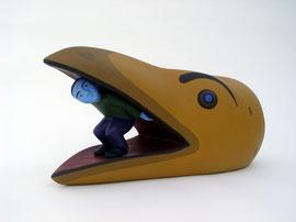 """Bird Man, 2006, 9 x 19 x 10"""""""