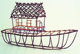 """House Boat, 1983, 16 x 29 x 9"""""""
