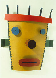 Yellow Head 1986, 17 x 15 x 6""