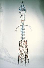 """Tall Man, 1982, 91 x 27 x 13"""""""