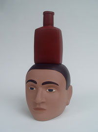 """Bottle Head, 2008, 16 x 8 x 9"""""""