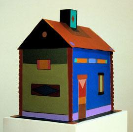 """Chimney House 1988, 13 x 12 x 9"""""""