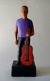 """Guitar Man, 2000, 15 x 5 x 4"""""""