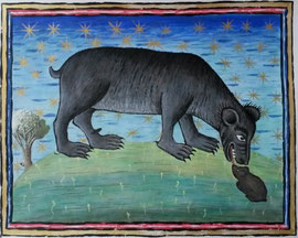 Bear (Inspired by original at Museum Meermanno), 35cm x 27cm