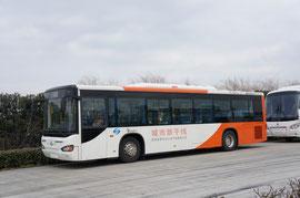 """Городской автобус Higer KLQ 6119GHEV1. Компоновка салона не выделяется от общепринятой в Китае. """"Метроместа"""" на передних арках и никакого накопителя в салоне"""