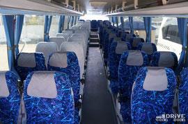 Пассажировместимость 55 мест. Из планов на модернизацию проверенной, в принципе, конструкции стоит отметить замену кресел на аналогичные, но с более высокой спинкой.