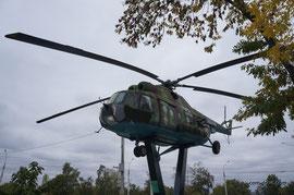 МИ-8 - единственная машина в экспозиции призванная летать