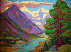 Живопись 2  Горный Алтай, гора Белуха