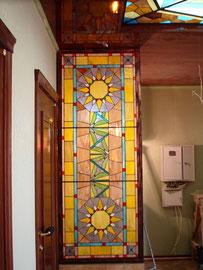 Витражное панно в квартире