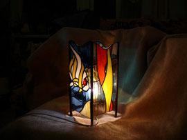 """Ночной витражный светильник в стиле""""Тиффани"""""""