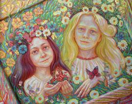 портрет ..Мир детства..(фрагмент) дети