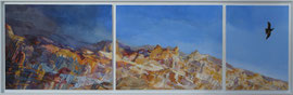 Canyon Flight - acryl and sand on canvas - 133 x 40 cm -SOLD-