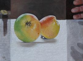 Wait Too !! - oil on canvas - 30 x 40 cm