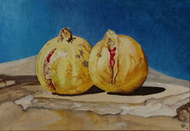 summers gone - Oil and acryl with sand on canvas - 55 x 38 cm SOLD