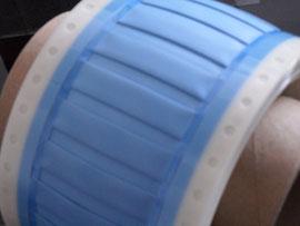 Marquilla termocontractil azul, tipo militar