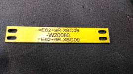 Tarjeta TGRA para identificación de conductores, contenidos variables, buril Láser.