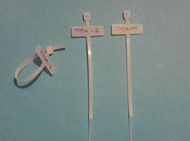 Marquilla de marcacion manual con amarres TMA.