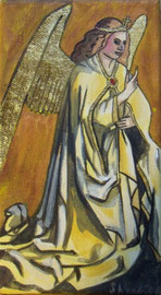 Engel Gabriel, auf Leinwand, echt vergoldet, 10x18cm SFr. 95.-