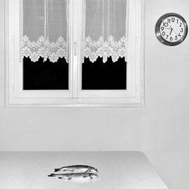 Détruite digital noir et blanc.