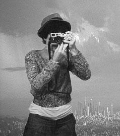 Noir et blanc argentique Leica M6 Los Angeles Auto portrait