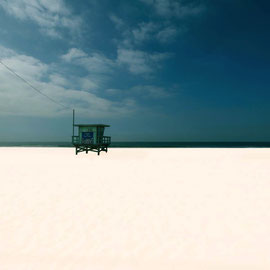 Santa Monica beach digital color , USA