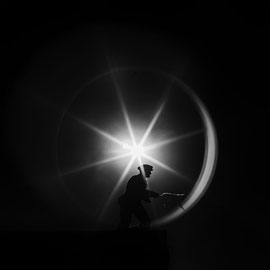 noir et blanc, digital, L'étoile Usa ,salon Riedisheim 2018 Acceptée