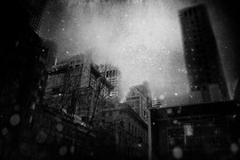 New York with snow texture work