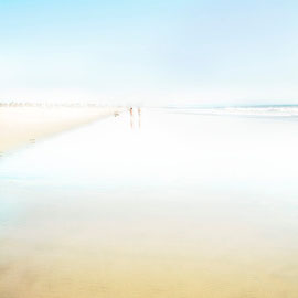 Blue side  in Santa monica beach  Digital color blue series 1/20