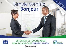 Campagne: Simple comme bonjour, Directeur artistique: Guy Kouekam, Photographe: Zacharie Ngnogue, Agence: MW DDB, Client: Atlantique Banque