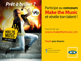 Campagne: Concours Make the music, Directeur artistique: Bibi benzo, Photographe: Zacharie Ngnogue, Agence: MW DDB, Client: MTN CAMEROON