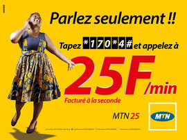 Campagne: Epervier, mtn 25, Directeur artistique: Bibi benzo, Photographe: Zacharie Ngnogue, Agence: MW DDB, Client: MTN CAMEROON