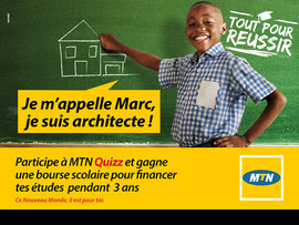 Campagne: MTN Back to School 2015, Directeur artistique: Bibi Benzo, Photographe: Zacharie Ngnogue, Agence: MW DDB, Client: MTN CAMEROON