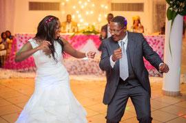 Photographie de mariage, père et fille
