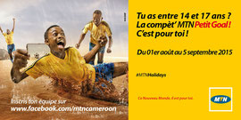 Campagne: MTN Petit Goal 2015, Directeur artistique: Bibi Benzo, Photographe: Zacharie Ngnogue, Agence: MW DDB, Client: MTN CAMEROON