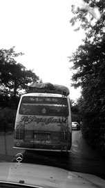 One of the buses to the west province. Phonephoto by Chantal Edie