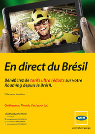 Campagne: Roaming brazil, Directeur artistique: Bibi benzo, Photographe: Zacharie Ngnogue, Agence: MW DDB, Client: MTN CAMEROON