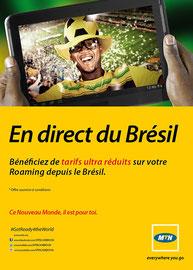 Campagne: Roaming brazil, Directeur artistique: Bibi benzo, Photographe: Zacharie Ngnogue, Agence: MW DDB, Client: MTN CAMEROON
