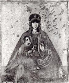 Тракайская икона во время реставрации